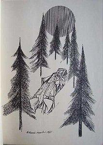 Livro Caminho de Cida Rinaldi Guastelli, Autografado,  com Ilustrações de Aldemir Martins