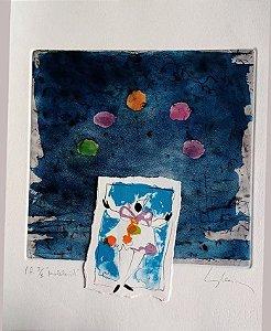 Eduardo Iglesias - Gravura e Colagem, Malabarista,  Prova de Artista Assinada