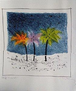 Eduardo Iglesias - Tropical - Lito e Colagem Prova de Artista,  Assinada