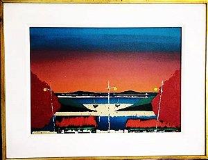 Tuco Amalfi - Quadro, Pintura Óleo sobre Tela, Marinha ao Amanhecer, 1976