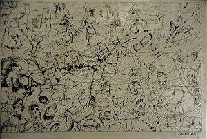 Evandro Salles - Desenho Original Nanquim, Bico De Pena