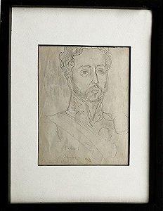 Joaquim da Rocha Ferreira - Desenho Original De Dom Pedro I