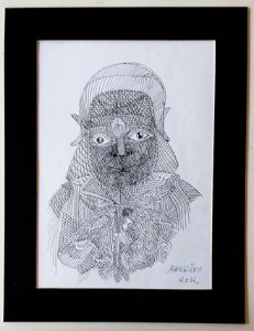 Maurino Araujo - Desenho Original, Nanquim, 2012