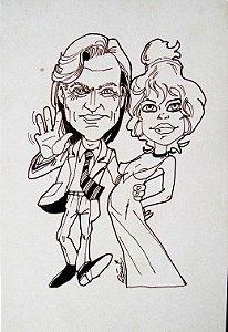 Remi - Desenho Original Caricatura de Brigitte Bardot
