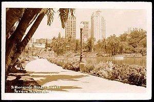 Minas Gerais - Belo Horizonte, Parque Municipal - Cartão Postal Fotográfico Antigo Original