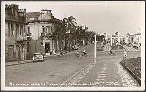 Rio Grande Do Sul - Livramento, Praça Rio Branco - Cartão Postal Fotográfico Original
