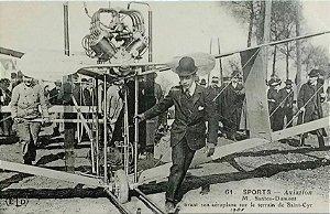 Raro - Santos Dumont - A Saint-Cyr - Cartão Postal Antigo Original, Tipográfico