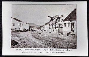 Rio Grande Do Sul, Hamburgo- Cartão Postal Antigo Original, Tipográfico
