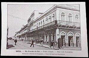 Rio Grande Do Sul, Porto Alegre Rua 7 Setembro - Cartão Postal Antigo, Tipográfico