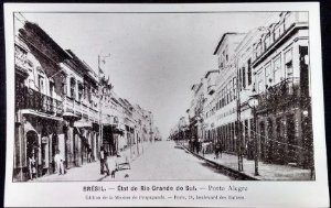 Rio Grande Do Sul -  Porto Alegre - Cartão Postal Antigo Original, Tipográfico