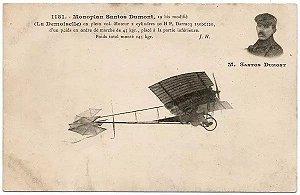 Santos Dumont -  Cartão Postal Antigo Original, Não Circulado, Edição Francesa