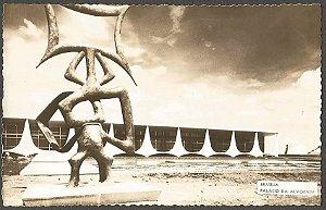 Distrito Federal - Brasília, Palácio da Alvorada e Rito dos Ritmos - Cartão Postal Antigo, Fotografia Original