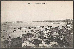 Salvador, Bahia - Vista Do Porto - Cartão Postal Antigo, Tipográfico, Original
