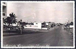 Bahia - Ilheus - Avenida Canavieiras, Cartão Postal Antigo, Fotografia Original