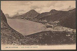 Rio Janeiro - Une Plage De Bains - Cartão Postal Tipográfico, Antigo
