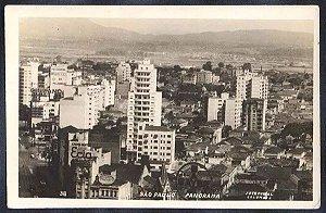 São Paulo - Panorama Cartão Postal Fotográfico Antigo, Edição Colombo