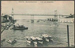 Rio De Janeiro - Ponte Alexandrino - Cartão Postal Antigo Original