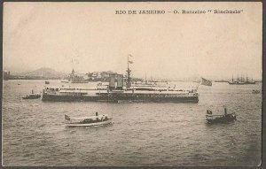 Rio De Janeiro - O Ruizeiro Riachuelo - Encouraçado - Cartão Postal Antigo