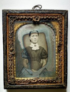 Fotografia Antiga Daguerreótipo Mulher