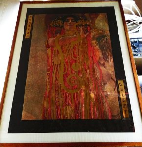 Poster da obra Medicine, de Gustav Klimt  - 80 x 60 cm, Emoldurado