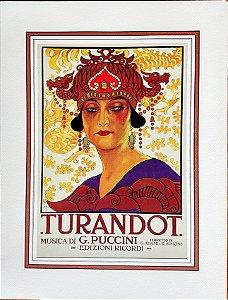 Portfólio com 4 Estampas, Manifesti Liberty De Opera  Puccini