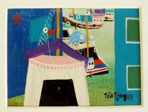 Tio Tjay - Quadro, Pintura Óleo Sobre Tela Retratando Manaus,  Amazonas, Assinado, Emoldurado