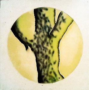 Pintura em Técnica Mista S/ Cartão Assinado Monogramada de  '86 - Arvore