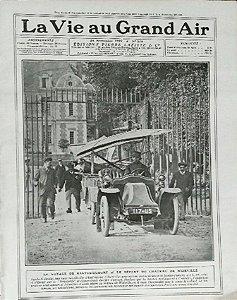Santos Dumont - Aeroplano Demoiselle, Reportagem no Jornal La Vie Au Grand Air, 1909