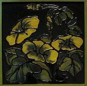 Toshie Nagamori,  Quadro Pintura Técnica Mista, Acrílico, Assinada 197l - Emoldurada