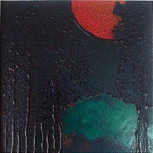 Toshie Nagamori - Quadro, Pintura  Técnica Mista, Acrílico S/ Eucatex Assinada '71, Emoldurado