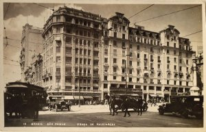 São Paulo, Cartão Postal Antigo Praca do Patriarca, Movimento de Bondes E Carros