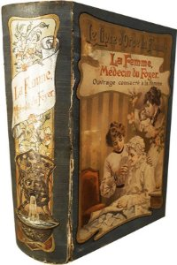 Livro A Mulher, Medicina Em Casa Por Anna Fisher, Paris 1925, Arte Gravura Pintura