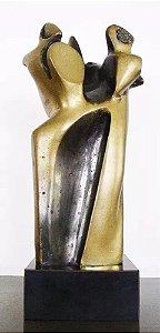 Pita Hirs - Escultura em Bronze Assinada, Figurativo Feminino, Três Irmãs