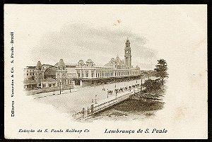 Lembrança De São Paulo - Cartão Postal Antigo da Estação Da Luz