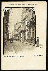 Lembrança De São Paulo - Cartão Postal Antigo Original, Rua De São Bento