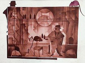 Bernardo Cid - Quadro Arte em Gravura Original, Assinada