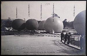 Santos Dumont -  Raro Cartão Postal Antigo - Balão As Duas Américas, Copa Gordon Bennett 2 - 1906
