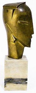 Escultura Deco com Tendência Retro, Bronze Figura Feminina com Base D Mármore