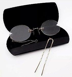 Antigo Par De Óculos Pince Nez - STA SO - Ouro 12k