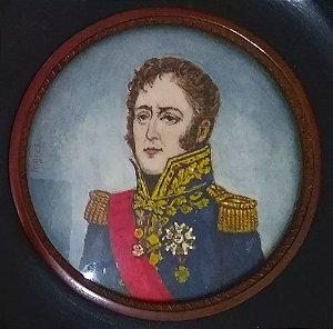 Quadro Pintura em Miniatura do Marechal de Napoleão, Michel Ney, Assinado