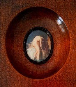 Quadro Nu em Miniatura, Pintura sobre Marfim, Assinado