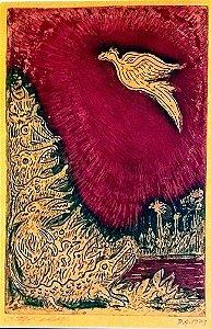 Newton Cavalcanti - Quadro, Arte em Xilogravura, Prova de Artista, Fênix