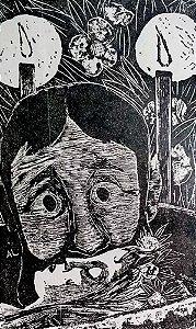 Axl Leskoschek - Gravura Original,  Arte em Xilogravura Assinada
