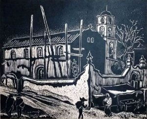 Carl Lewis Pappe - Arte em Gravura, Xilogravura Original Assinada