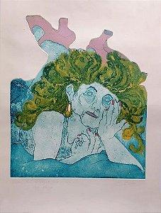 Beatriz Berman - Arte em Gravura com Forte Relevo, Prova de Artista, Assinada