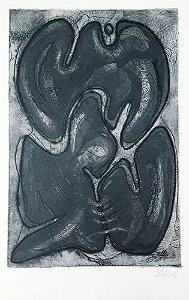 Mario Cravo Junior - Arte em Gravura em Metal, Figura, Composição em Cinza
