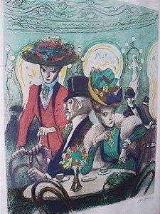 Alfredo Opisso - Quadro, Arte em Gravura Assinada a Lápis e Numerada