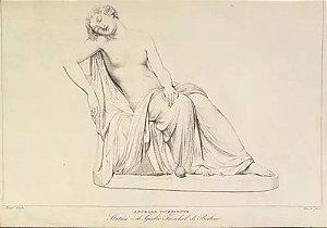 Ancella Dormiente - Arte em Gravura Original Antiga Feminino, Italia