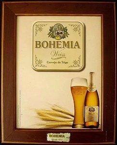 Bohemia - Publicidade, Arte sobre Eucatex, Emoldurada, Cerveja Bohemia