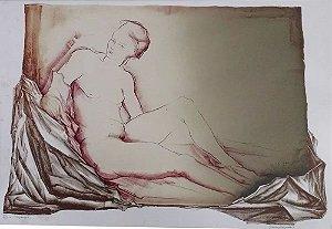 Juarez Magno - Arte em Gravura Original Assinada, Repouso, de 1979
